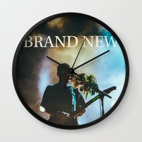 brand new Wall Clocks featuring Brand New by ICANWASHAWAY