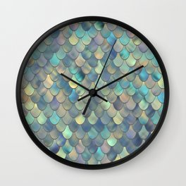 Mermaid Sea Shell Iridescent Wall Clock