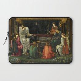 Edward Burne-Jones - The Last Sleep of Arthur in Avalon Laptop Sleeve