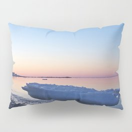 Icebergs on the Beach Pillow Sham