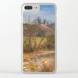 Farm by the creek Clear iPhone Case
