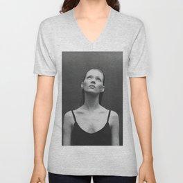 Old reworked Kate Moss photo. Unisex V-Neck