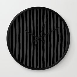 Black and Grey Stripe Wall Clock
