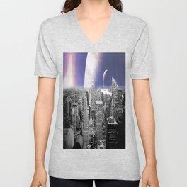 New New York : Galaxy City Unisex V-Neck