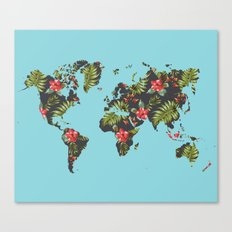 tropical map Canvas Print