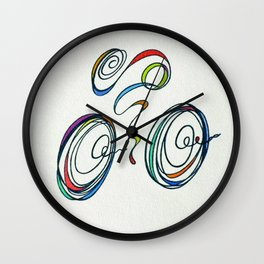 Bicycle - Zoomin' Through Wall Clock