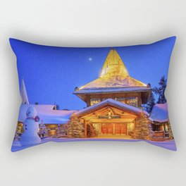 Santa's Home. Rectangular Pillow