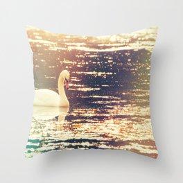 Dreamy Swan Throw Pillow