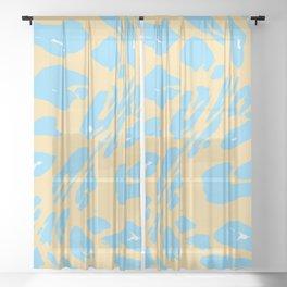 Woah! Leopard Print Sheer Curtain