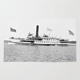 Ticonderoga Steamer on Lake Champlain Rug