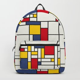 World Map Abstract Mondrian Style Backpack