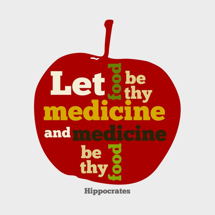 Apple Let food be thy medicine and medicine be thy food. Duvet Cover