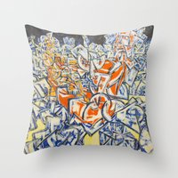 inception Throw Pillows featuring Concerted Inception by Eric Walker