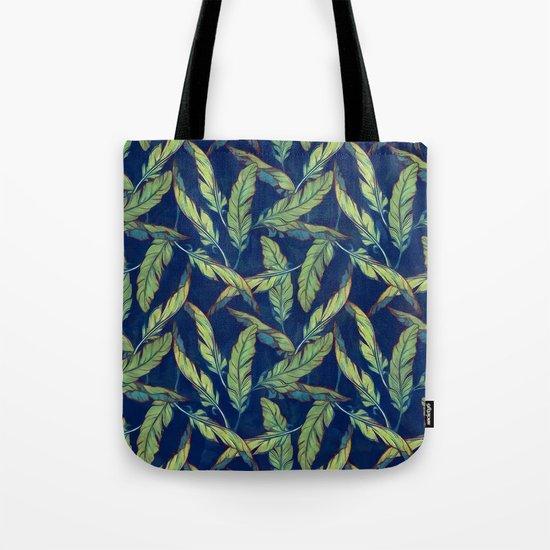 Tropical banana leaves III Tote Bag