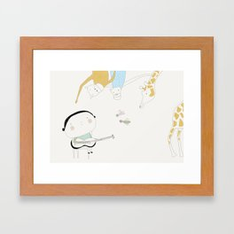 Play it again (ANALOG zine) Framed Art Print