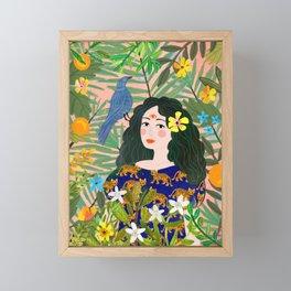 Boho Lady Framed Mini Art Print