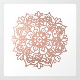 Rose Gold Mandala Redux Art Print
