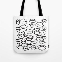 Sketchy Lips Tote Bag