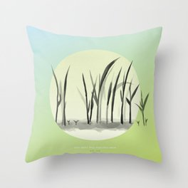 [4.25—4.29] Last Frost, Rice Seedlings Grow Throw Pillow