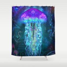 Luminescent Jellyfish Shower Curtain