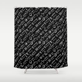 Dark magic print Shower Curtain