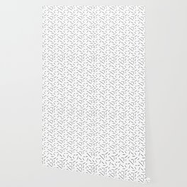 Black and white dashes pattern Wallpaper