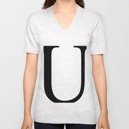 U letter Unisex V-Neck