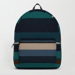 minimalistic horizontal stripes pattern hbi Backpack