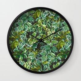 Leafage Green Foliage Photo Pattern Wall Clock