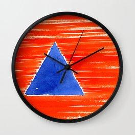 orange desert Wall Clock