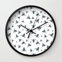 Fly Dotwork Wall Clock