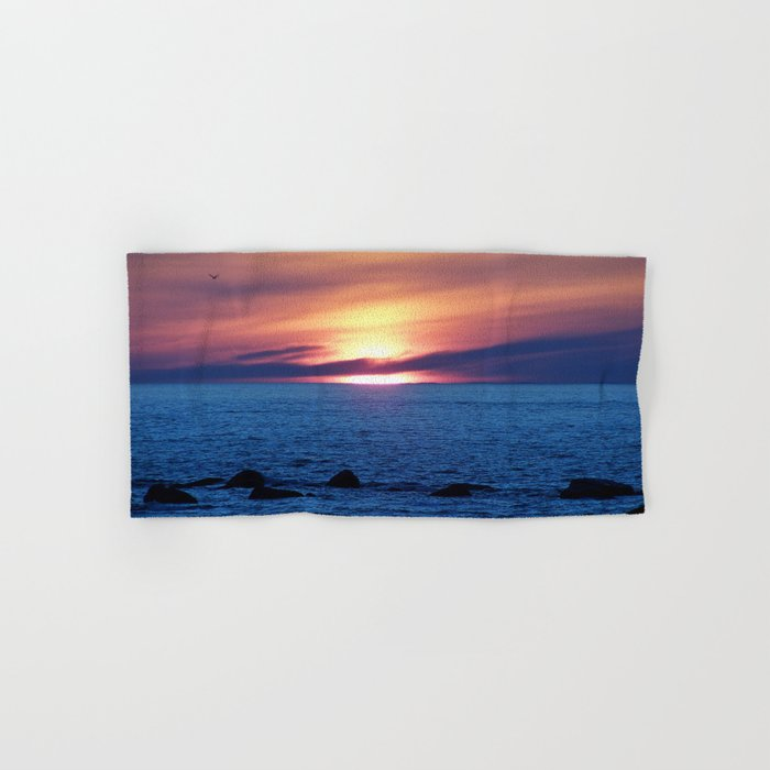 Sunset over Blue Waters Hand & Bath Towel