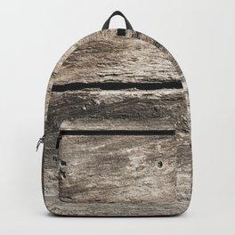Old wooden broken background Backpack