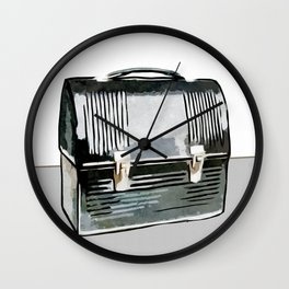 Digital Retro Relic Collection Vintage Lunchbox Wall Clock