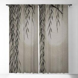 Willow in the moonlight Blackout Curtain