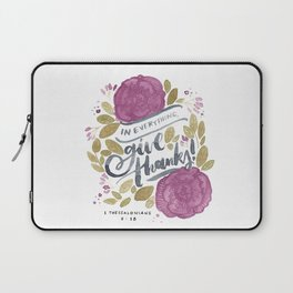 1 Thessalonians 5:18 Laptop Sleeve
