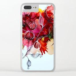 Fleurs de coton Clear iPhone Case