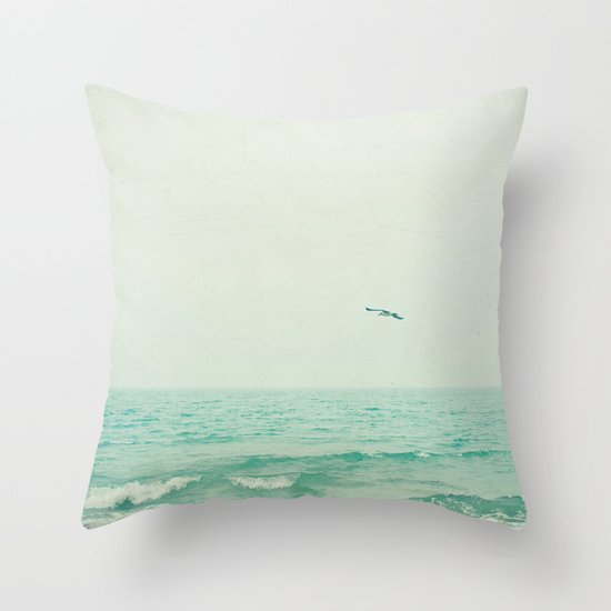 Lone Bird Throw Pillow
