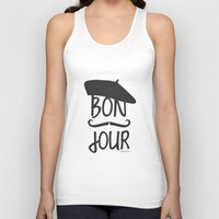 bonjour Tank Tops featuring bonjour by miss Sue
