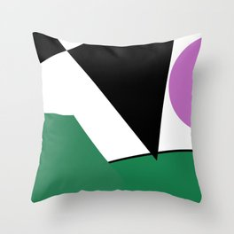 Funnel Cloud Touches The Land Throw Pillow