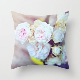The Last Days of Spring - Old Roses IV Throw Pillow