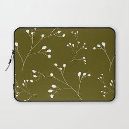 Olive floral pattern Laptop Sleeve