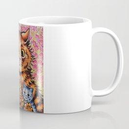 Cat and Her Kittens-Louis Wain Cats Coffee Mug