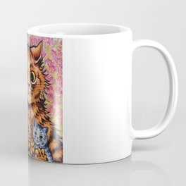 Cat and Her Kittens-Louis Wain Cats Coffee Mug
