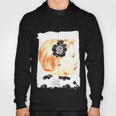 Illustration with black and white Hoody