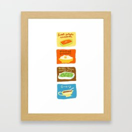 Mashed Potatoes + Framed Art Print