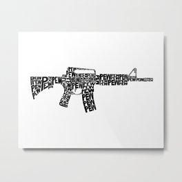 Pew Pew AR-15 Metal Print
