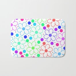 FUN FLOWERS Bath Mat