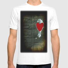 Love Malfunction White Mens Fitted Tee MEDIUM