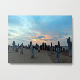 Pillars of the Night Metal Print